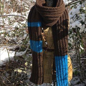 100% wool OOAK handmade big wool man scarf